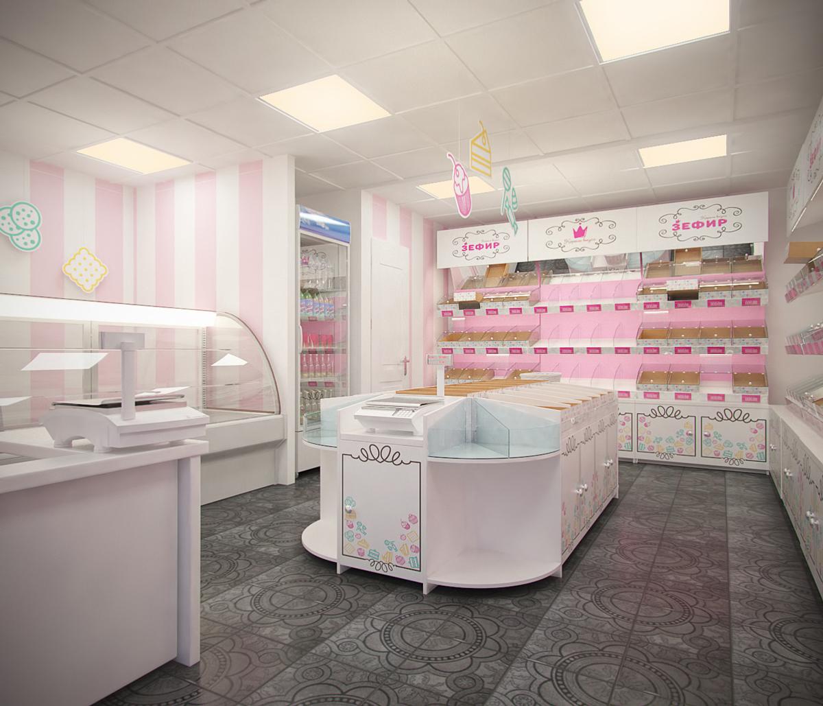 08c7b4f7f082 Разработка дизайна магазина сладостей «Зефир»   Дизайн сайта ...